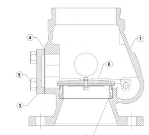 Presjek mokrog sprinkler ventila